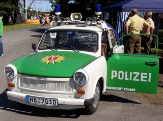 Trabant Polizeiversion Date:am 4.Spetember 2005/Author:Bjorn Fritsche